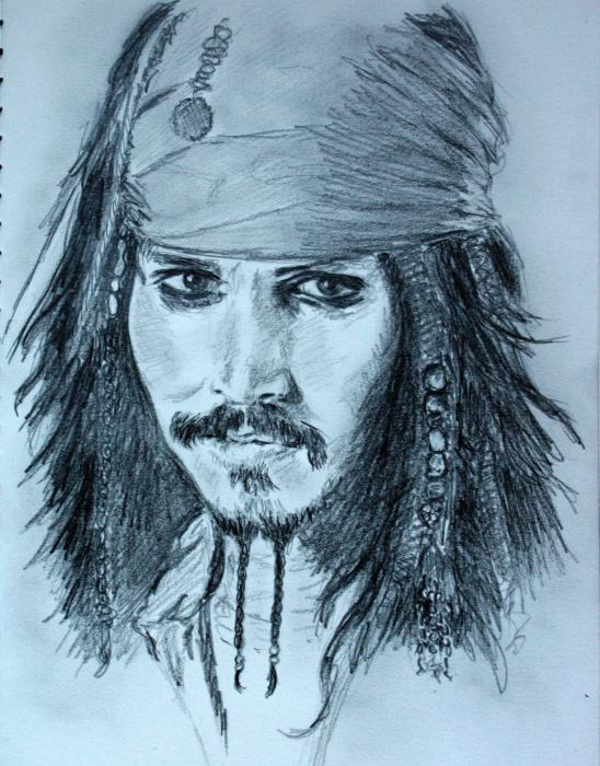 Johnny Depp by ClaireEliseDessin